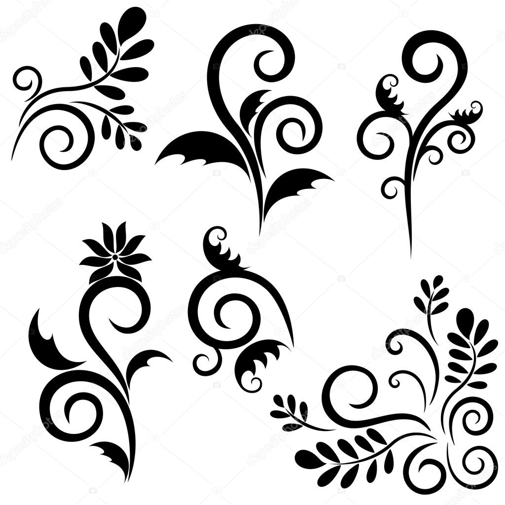 Set of ornament for design. Vector objects isolated — Stok Vektör #2909554