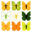 Royalty-Free Stock Vector: Set of butterflies
