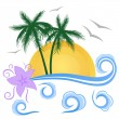 Royalty-Free Stock Vector Image: Tropical summer landscape