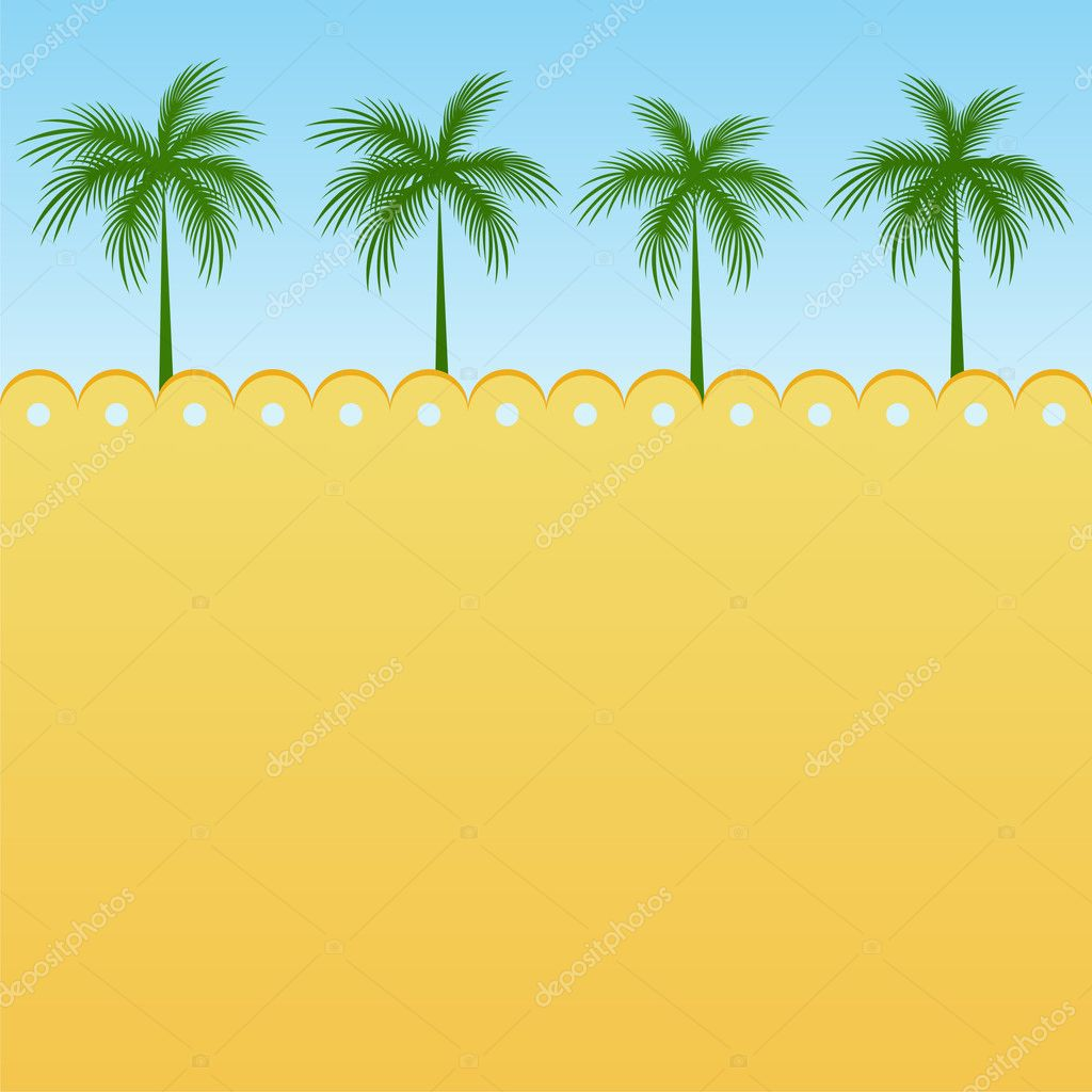 Summer background with palm trees and free space for Your text — Stock Vector #3124231