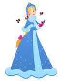 Snow Maiden — Stock Vector