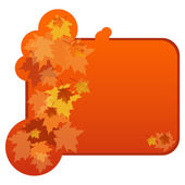 Banner with autumnal leaves — Stock Vector