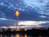 Torre tv di illuminazione — Foto Stock
