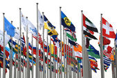 A lot of flags — Stock Photo