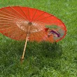 Red chinese umbrella — Stock Photo
