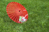 Silk umbrella — Stock Photo