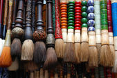 Traditional chinese brushes — Stock Photo