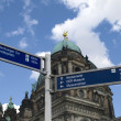 Signs near Berliner dom — Stock Photo