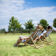 Young couple relaxing ouside — Stock Photo #2696622