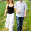 Couple on summer walk — Stock Photo