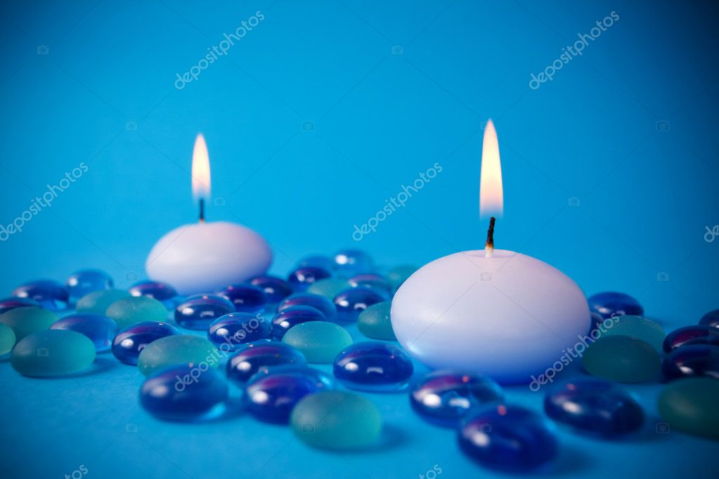 Candles prepared to spa session  — Stock Photo #2697061