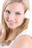 Piękna młoda kobieta — Zdjęcie stockowe