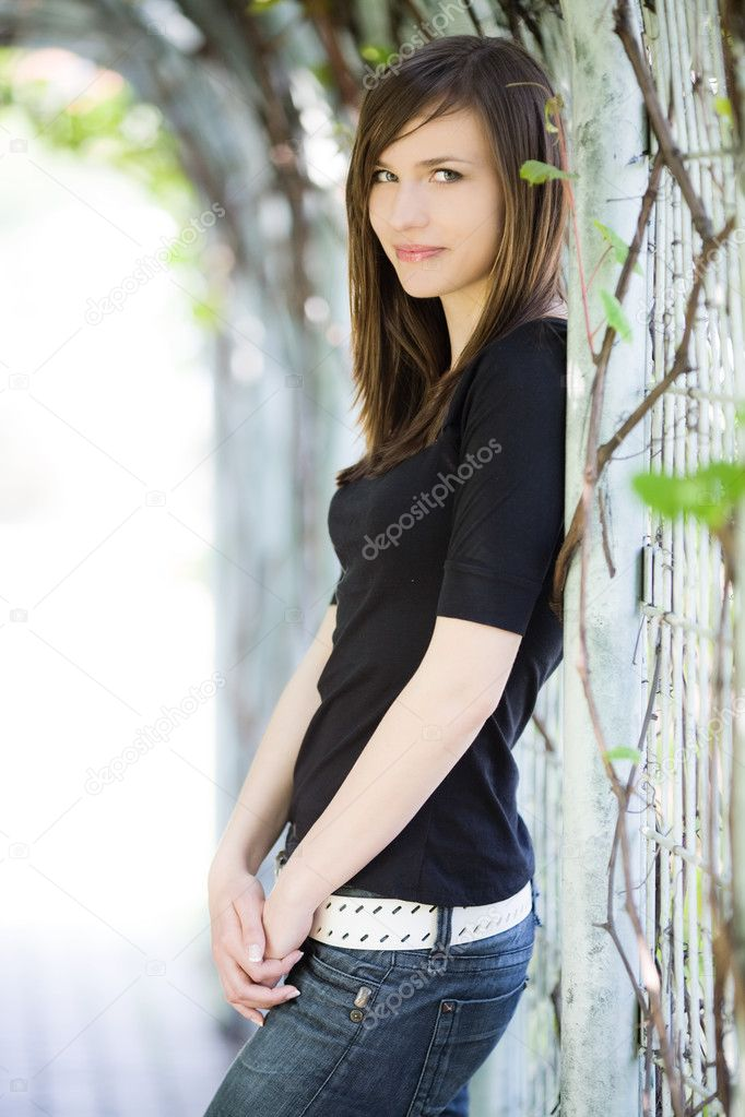 Portrait of beautiful woman  Foto Stock #2794424