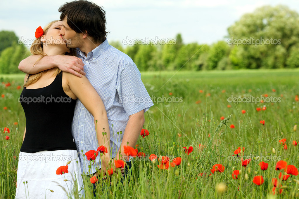 Loving couple sharing a pasionate kiss   Stock Photo #2794425