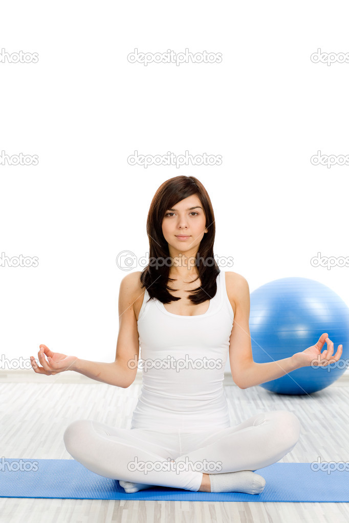 Woman doing fitness exercise — Stock Photo #2864558
