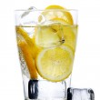 Drink with water and lemon — Stock Photo