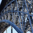 Stock Photo: Steel bridge construction