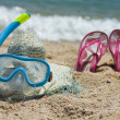 Beach accesories - Stock Photo