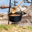 Hungarian fish soup — Stock Photo