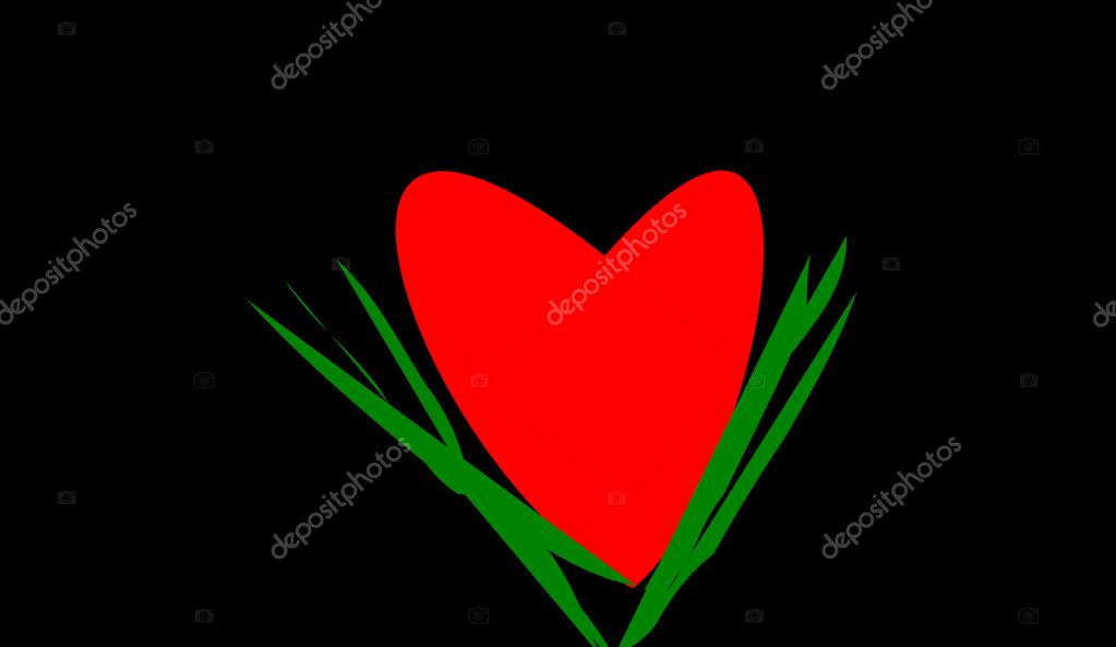 The heart on black background — Stock Photo #2855823