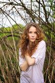 Portrait of a beautiful redhead girl — Stock Photo