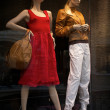 Mannequins in clothes shop — Stock Photo #3427753