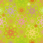 Floral abstract seamless pattern — Stock Vector