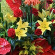 Stock Photo: Red and yellow floral arrangement