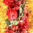 Red and yellow floral arrangement — Stock Photo #2999503