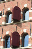 Historic dutch facade — Stock Photo