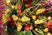 Yellow and orange flower arrangement — Stock Photo