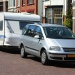 Car and caravan — Stock Photo