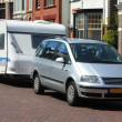 Stock Photo: Car and caravan