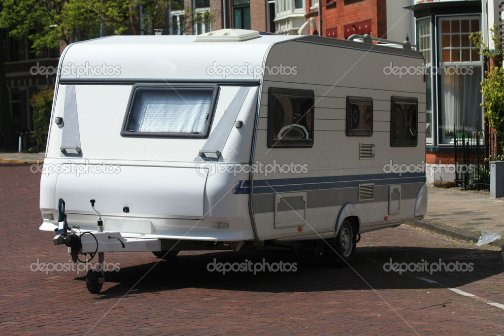 A middle size tour caravan — Stock Photo #3166842