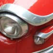 Headlight detail of a vintage French car — Stock Photo