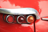 Detail of a vintage French car, backlights — Stock Photo