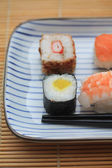 Different sorts of sushi — Stockfoto