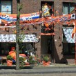 Dutch soccer decorations — Stock Photo