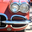 Front of a classic American car — Foto de Stock