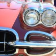 Front of a classic American car — Foto Stock
