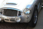 Shinny grey vintage sportscar — Stock Photo