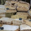 Nougat on a French market — Stock Photo
