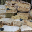 Stock Photo: Nougat on a French market