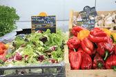 Yerel fransız pazarında sebze — Stok fotoğraf