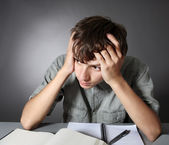 Student does homework — Stock Photo