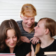 Stock Photo: Three schoolgirls