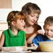 Family cooking - Stock Photo