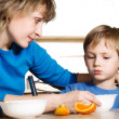 Eating of child — Stock Photo