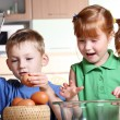 Children cooking — Stock Photo #3435488