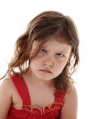 Offended little girl — Stock Photo